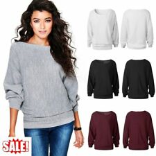 Women Oversized Batwing Sleeve Knitted Sweaters Loose Cardigan Outwear LOT QK