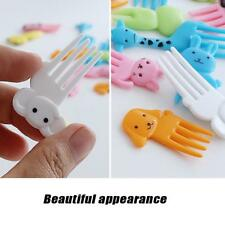 10PCS Cute Animal Food Fruit  Bento Picks Forks Lunch Box Accessory Party Decor