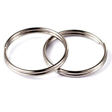 15, 20, 25, 30mm Smooth Silver Plated Split Keyring Key Ring Keychain Findings