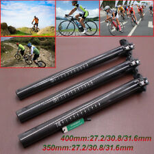 3K Carbon Fiber Cycling Bicycle MTB Road Mountain Bike Seatpost 27.2/30.8/31.6mm