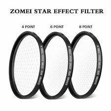 ZOMEI 52/58/67/72/77/82mm star effect starburst Lens 4+6+8 pointed Camera filter
