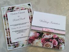 VINTAGE ROSES Wedding Invitations, Save the Date, Place Cards, RSVP, PACKS OF 10
