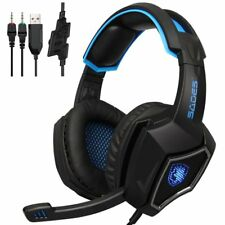 New Sades L9 PS4 gaming Headset computer headphones stereo with 3.5mm jack BU