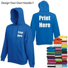 Design/Customise/Personalise Your Own Hoodie, Custom Printed FREE DELIVERY