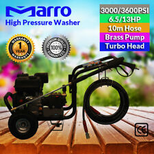New 6.5/13HP High Pressure Cleaner Washer 3000/3600PSI Petrol Water Hose Gurne