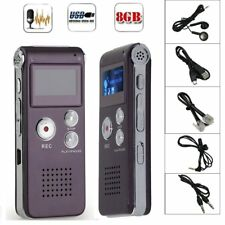 8GB Digital MP3 Player Audio Voice Recorder Rechargeable Dictaphone Telephone BU