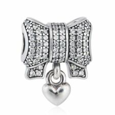 authentic 925 sterling silver nomination charms Pave CZ Heart Pendant Charm bead