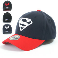 ililily Superman Baseball Cap Superman Shield Embroidery Fitted Trucker Hat