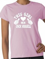 This Girl Loves Her Jack Russell Dog Pet Ladies Gift T-shirt Size S-XXL