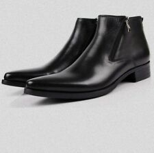 Leather Boots Pointed Toe Breathable Bullock Patterns Oxford Shoes chs sz/clr