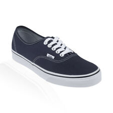 Vans - Authentic Mens Womens Casual Shoes - Dark Blue/True White
