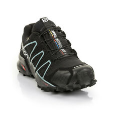 Salomon - Womens Speedcross 4 GTX Trail Running Shoe - Black/Black/Metallic