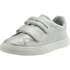 Tommy Hilfiger T1A4-00238-0067 Silver Leather Infant Trainers