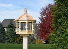 Small Spindle Gazebo Bird Feeder Wood Amish Homemade Handcrafted
