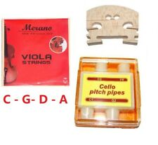 Merano New Set of Viola Strings+Bridge+Tuner for Student,Beginner,Replacement