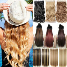 100% Natural Soft 3/4 Full Head Clip In Hair Extensions Curly Wavy as human Hair