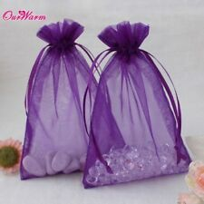 50Pcs Wedding Party Favor Organza Bags Gift Jewelry Candy Sheer H Shape Pouches
