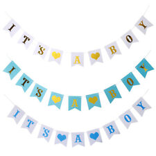 It's A Boy Banner Garland Baby Announcement Gender Reveal Baby Shower Photo Prop
