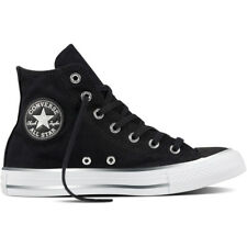 Converse Chuck Taylor All Star Tipped Metallic Toecap Hi Black Textile Trainers