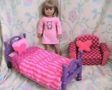 My Life Bed and Bedding Plus Matching Futon  for 18 inch Dolls