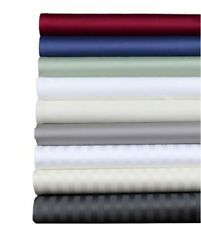 1000TC Egyptian Cotton Fitted Sheet+Pillow King/Cal-King Solid/Stripe Colors