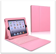 Bluetooth Keyboard Case Stand Folio Leather Cover For Apple iPad Air 5th Pink