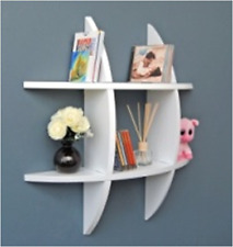 Wall Shelf Cross Display Bedroom Decorative Wooden Wall Mounted Shelves