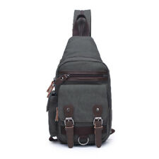 Weilian Canvas Cross Body Messenger Bag Shoulder Sling Backpack Travel Rucksack