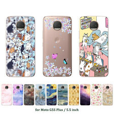 Soft TPU Silicone Case For Motorola Moto G5S Plus Phone Back Covers Skins Marble