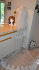 Two tier Cathedral Veil, Lace Wedding Veil, Long veil, Lace Bridal Veil+Comb