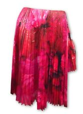 Thakoon Pink Laminated Accordion Pleat Skirt Cotton Voile Step Hem New $1290