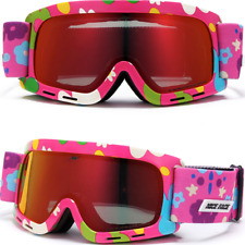 Girl Kids Snowboard Multicolor Goggles Ski Glasses Anti Fog Snow Skate Anti UV