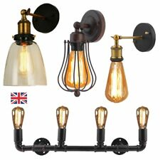 Industrial Vintage Wall Light Edison Sconce Glass Shade Wall Lamp Holder Decor