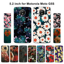 Soft TPU Silicone Case For Motorola Moto G5S Phone Back Covers Skins Floral