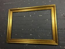 Vintage / Antique Wooden Ornate Gold Gilt Wooden Picture Frame, Chunky & V Large