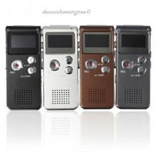 Rechargeable 8GB 650Hr Digital Audio Voice Recorder Dictaphone LCD MP3 Player US