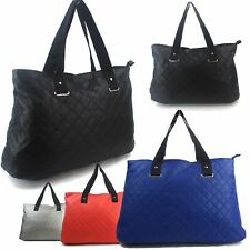 Extra Large Faux Leather Vintage Ladies Womens Shoulder Bag Handbag Tote Shopper