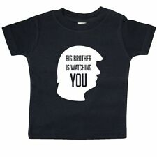 Inktastic Big Brother Is Watching You-silhouette Baby T-Shirt 1984 Trump George