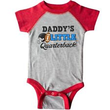 Inktastic Daddys Little Quarterback With Football And Helmet Infant Creeper Dads