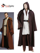 Star Wars Jedi Robe Obi Wan Kenobi Cosplay Costume Brown Cloak Cape Outfit