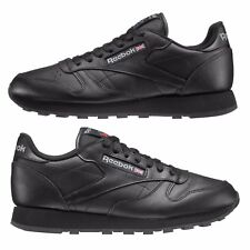 REEBOK CLASSIC LEATHER TRAINERS BLACK UK MENS SIZES 7 TO 12 ( 2267)