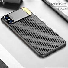 Stand Metal Mesh Thin Aluminum Bumper Phone Case Cover For iPhone X 8 7 Plus