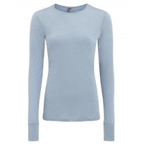 Sweaty Betty Superfine long slv yoga top - L. blue/ RRP £45