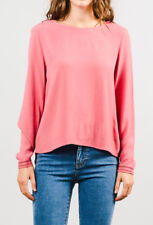 NEW RUSTY Womens Sweets Pink Long Sleeve Shirt Blouse Top