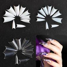 Tool for Acrylic Nail Art UV Gel French False Tips Long Sharp 500PCS Stiletto Z