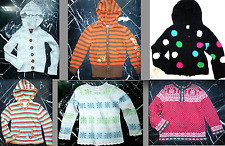 GYMBOREE CableKnit SCALLOPED Striped Polka Dot Girls Hooded CARDIGAN Sweater 5 6