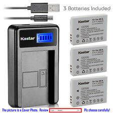 Kastar Battery LCD Charger for Canon NB-5L NB-5LH & Canon PowerShot S110 Camera