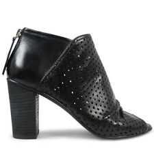 Wittner Ladies Shoes Black Leather Heels