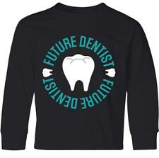 Inktastic Future Dentist Childs Dentistry Youth Long Sleeve T-Shirt Occupation