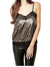 Guess Camilla Sequined Tank Top Gold Size M-L NWT MSRP $79 #2002